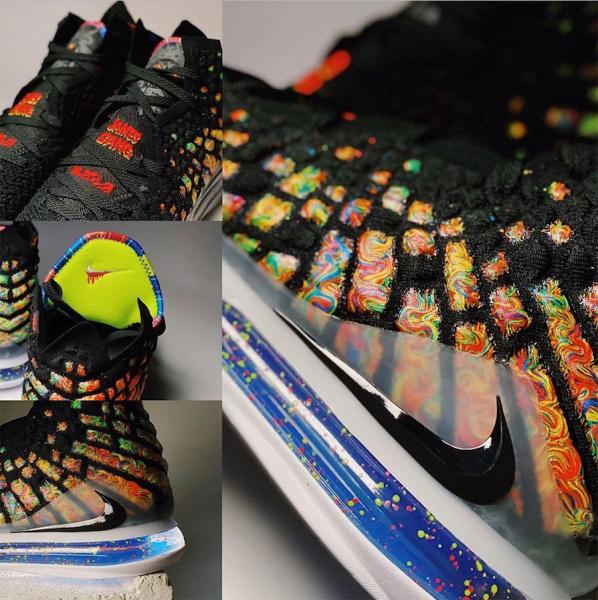 "Первый взгляд на Nike LeBron 17 ""James Gang"""
