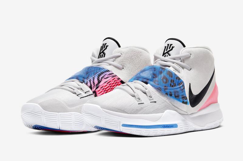 Nike Kyrie 6 'Vast Grey' в светлых тонах с принтом животных