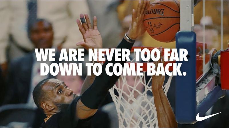 Nike и ЛеБрон Джеймс выпустили мотивирующее видео