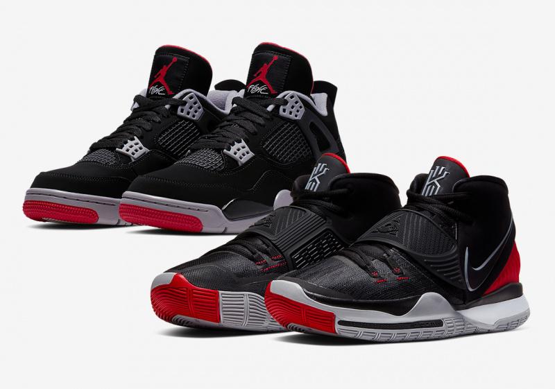 """Новая расцветка Nike Kyrie 6 отдает дань уважения Air Jordan 4 """"Bred""""?"""