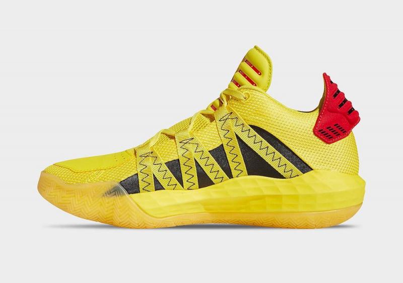 Баскетбольные кроссовки Дэмиана Лилларда adidas Dame 6 будут выпущены в новом «огненном» исполнении «Hot Rod»
