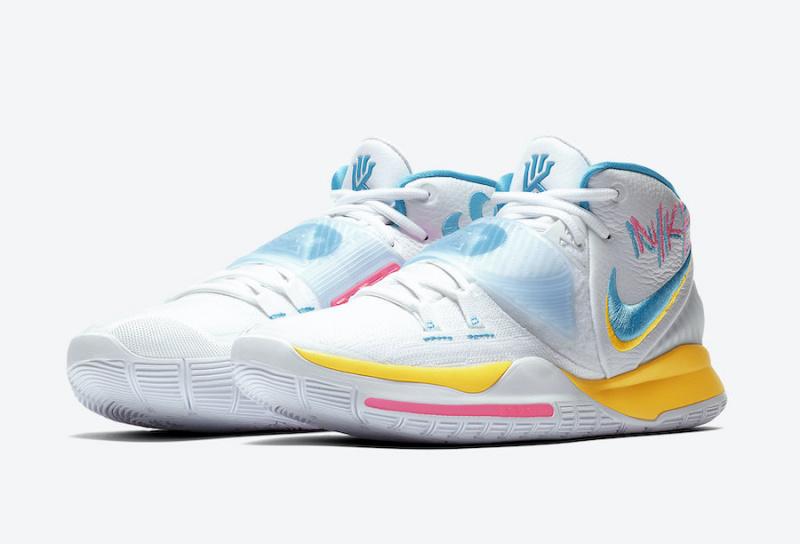 Дата релиза и официальные фото Nike Kyrie 6 'Neon Graffiti'
