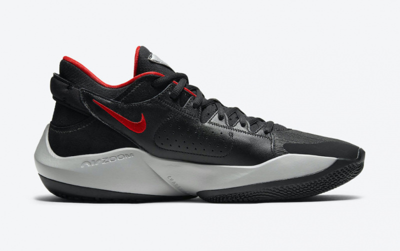 Баскетбольные кроссовки Янниса Адетокумбо Nike Zoom Freak 2 в стилистике «Bred»