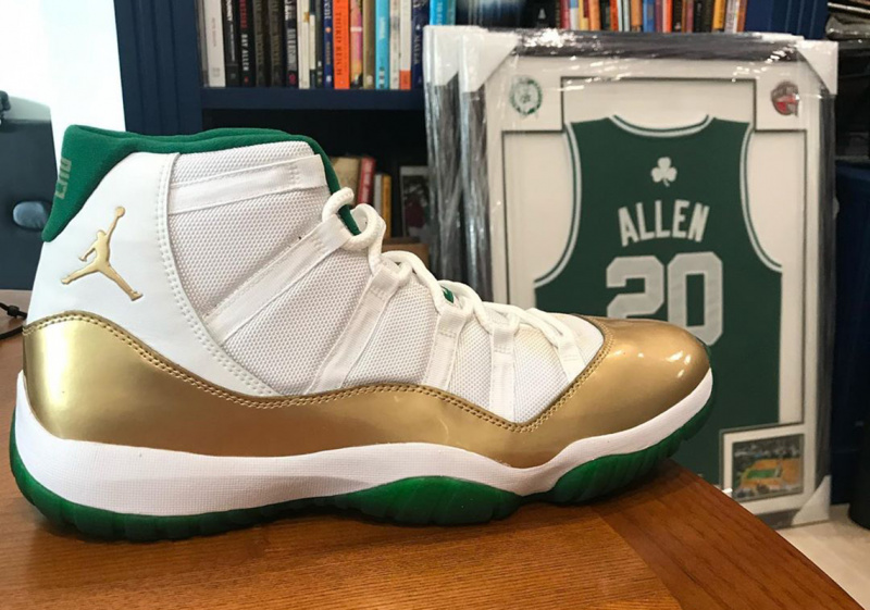 """Рэй Аллен опубликовал эксклюзивную расцветку Air Jordan 11 """"Celtics"""" PE"""