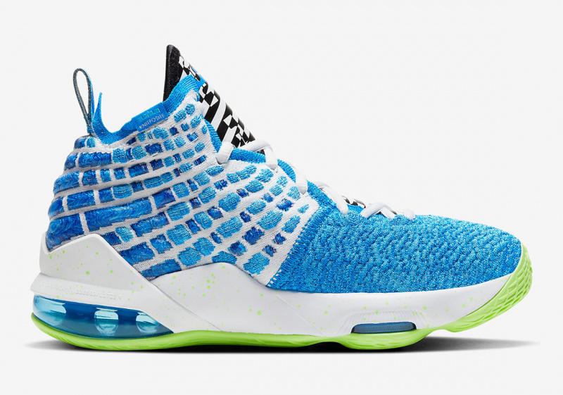 Официальные фото Nike LeBron 17 «Sprite»