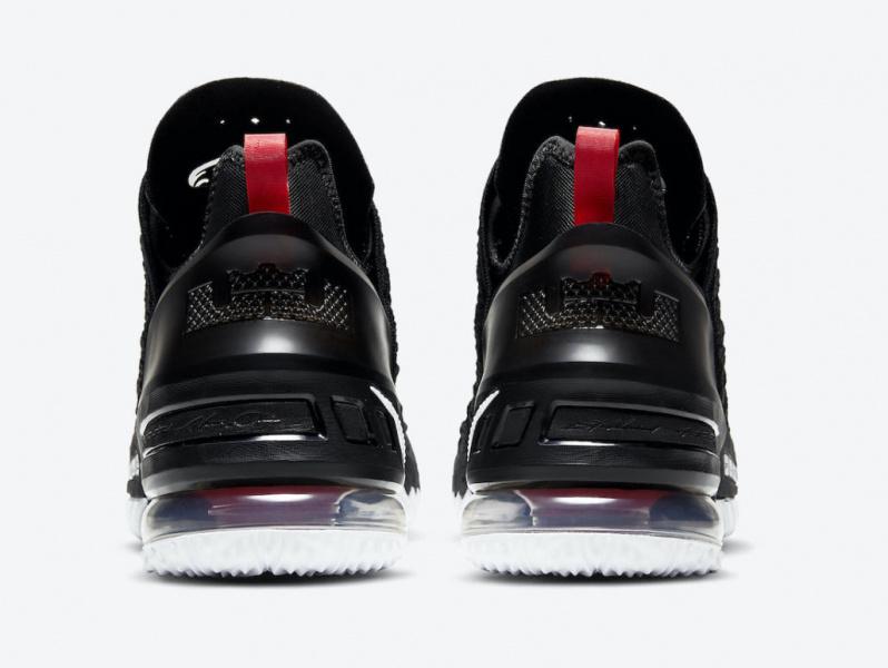 Nike LeBron 18 появятся в классической расцветке «BRED»