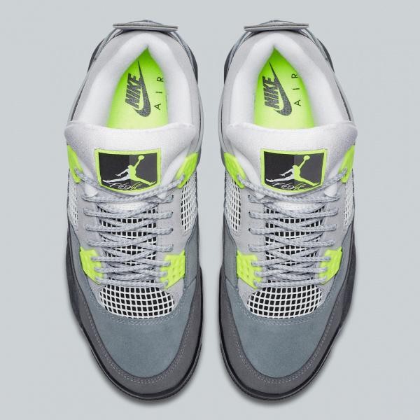 Официальные фото Air Jordan 4 Retro 'Neon'