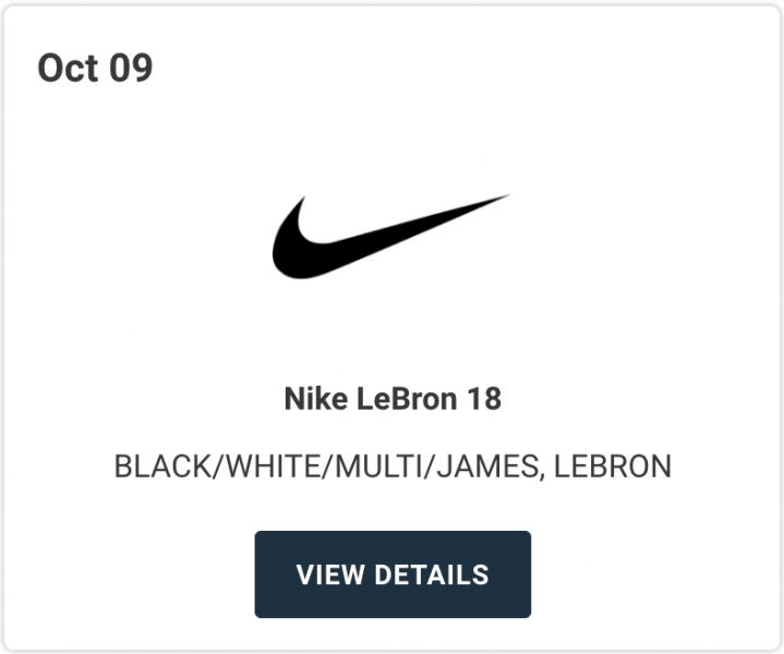Дата релиза Nike LeBron 18 и первые фото расцветки «James Gang»