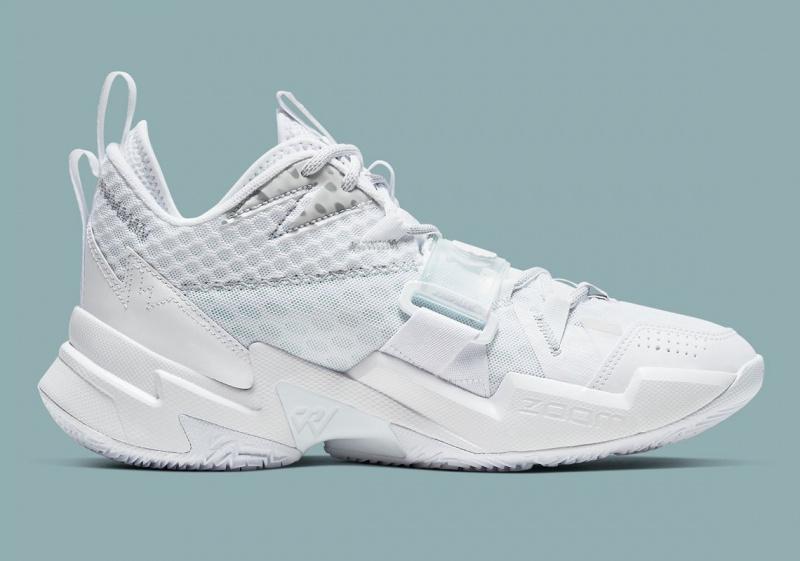 Jordan Why Not? Zer0.3 предстанут в практически полностью белом цвете