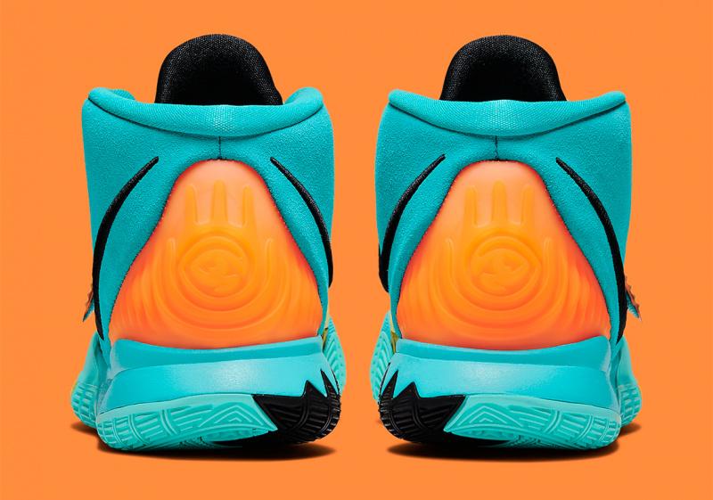 "Nike Kyrie 6 ""Oracle Aqua"" с ремешками леопардового и тигрового принтов"