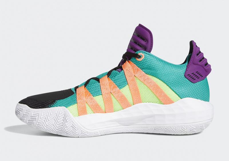 Новая расцветка adidas Dame 6 получит фиолетовые и бирюзовые акценты