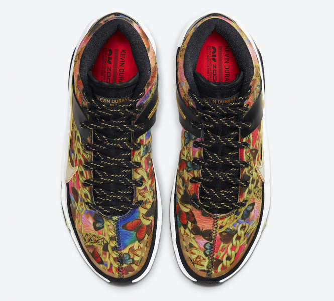 Nike KD 13 'Butterflies and Chains' вдохновленные Versace