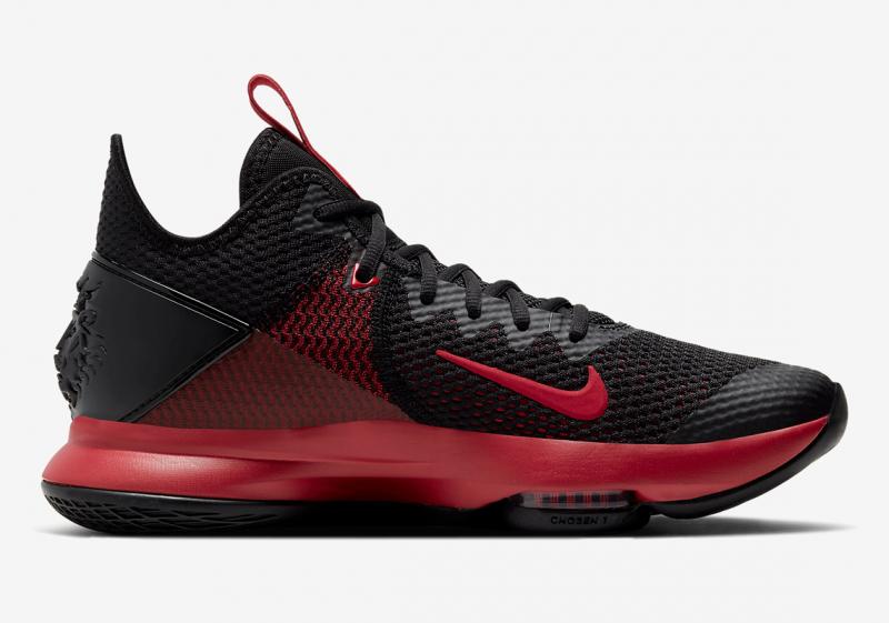 """Взгляд на Nike LeBron Witness 4 в классической расцветке """"Bred"""""""