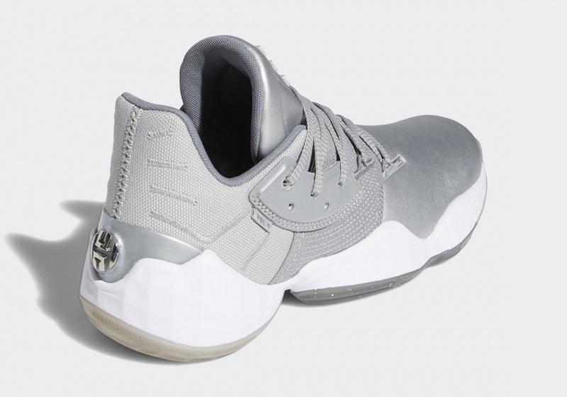 Новая расцветка adidas Harden Vol. 4 создана в серебренном исполнении