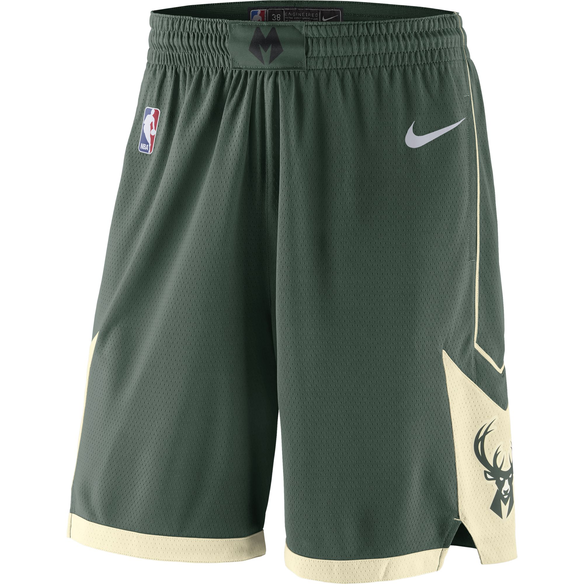 Мужские шорты Nike НБА Milwaukee Bucks Icon Edition Swingman AJ5623-323