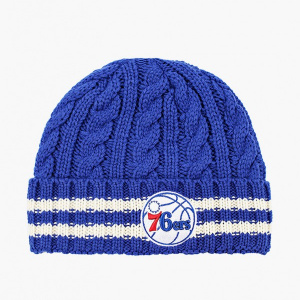 Вязанная шапка New Era Team Stripe Knit NBA Philadelphia 76ers 12040210