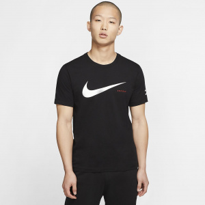 Мужская футболка с вышитым логотипом Nike Sportswear Swoosh CK2252-010