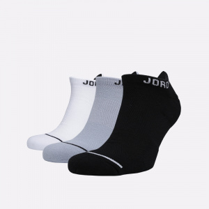 Носки Jumpman No-Show Socks, Black/White/Wolf Grey