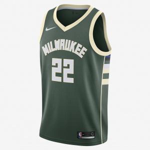 Мужская джерси Nike НБА Khris Middleton Icon Edition Swingman (Milwaukee Bucks) с технологией NikeConnect 864489-332