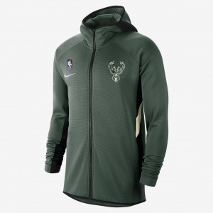 Мужская худи НБА Milwaukee Bucks Nike Therma Flex Showtime AT8476-323