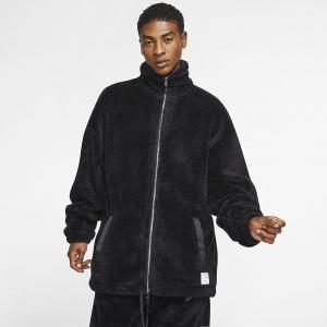 Тренерская куртка из материала Sherpa Jordan Black Cat CD4838-010