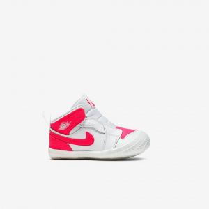 Кроссовки 1 Crib Bootie, White/Racer Pink-Racer Pink