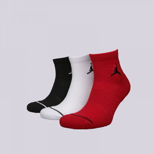 Носки Jumpman High-intensity Quarter Sock, Black/White/Gym Red