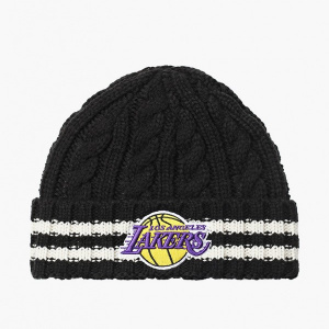 Вязанная шапка New Era Team Stripe Knit NBA Los Angeles Lakers 12040211