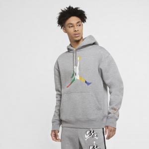Мужская флисовая худи Jordan Sport DNA - Серый
