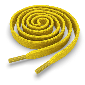Шнурки плоские 140 см FL-LACE-YEL-140