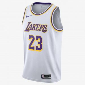 Мужская джерси Nike НБА Swingman LeBron James Lakers Association Edition AA7101-111