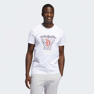 Мужская футболка adidas Dame Logo Basketball Hoop FM4792