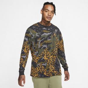 Мужская футболка с длинным рукавом Jordan Animal Instinct - Черный