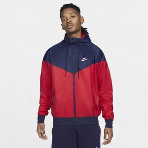 Мужская куртка с капюшоном Nike Sportswear Windrunner - Красный