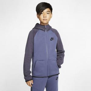 Куртка с молнией во всю длину для школьников Nike Sportswear Tech Fleece AR4020-557