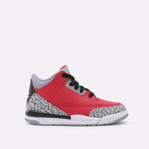 Кроссовки AJ 3 Retro Se (PS), Fire Red/Fire Red-Cement Grey-Black