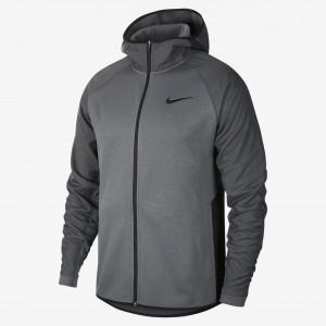 Мужская баскетбольная худи с молнией во всю длину Nike Therma AT3917-021