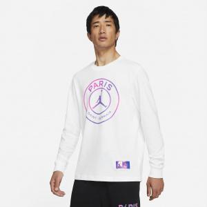 Мужская футболка с длинным рукавом Paris Saint-Germain - Белый