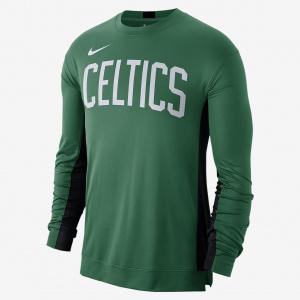 Мужской лонгслив НБА для разминки Boston Celtics Nike Dri-FIT AT9379-312