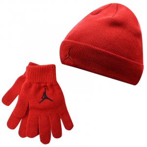 Детский комплект - шапка и перчатки Air Jordan Metal Jumpman Beanie and Glove Set
