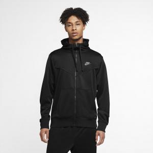 Мужская худи с молнией во всю длину Nike Sportswear - Черный