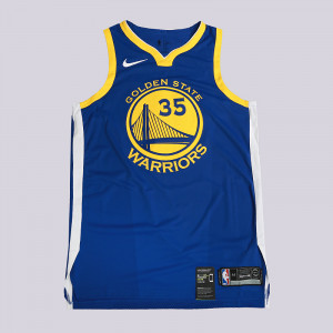 Мужская джерси Nike Kevin Durant Icon Edition Authentic Golden State Warriors NBA Connected Jersey 863022-496