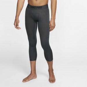 Мужские баскетбольные тайтсы длиной 3/4 Nike Pro - Черный