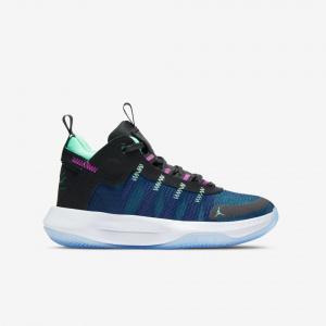 """Детские баскетбольные кроссовки Air Jordan Jumpman 2020 """"Blue Void"""" GS"""