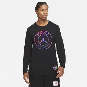Мужская футболка с длинным рукавом Paris Saint-Germain - Черный