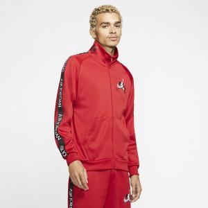 Мужская куртка для разминки из ткани трико Jordan Jumpman Classics - Красный