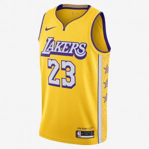 Мужское джерси Nike НБА Swingman LeBron James Lakers City Edition AV4646-729