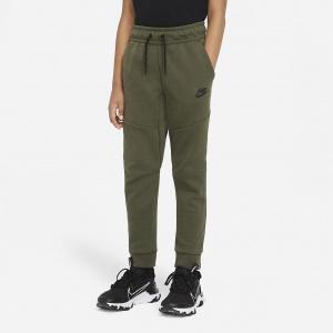 Брюки для мальчиков школьного возраста Nike Sportswear Tech Fleece - Зеленый